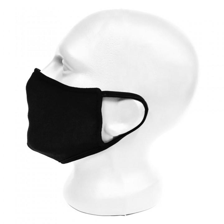 Маска для лица черная защитная двухслойная (16407)