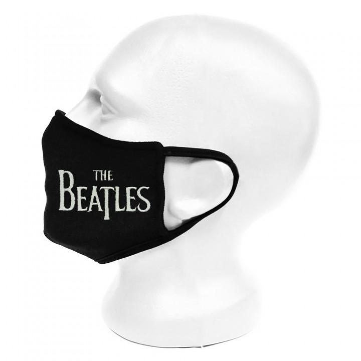 "Маска для лица черная защитная двухслойная ""The Beatles"" (16651)"
