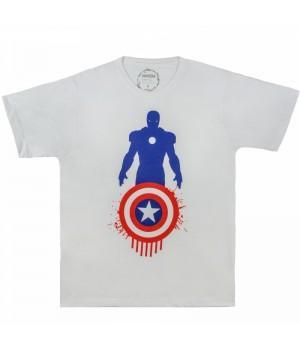 "Футболка ""Captain America v Iron Man (Капитан Америка)"""