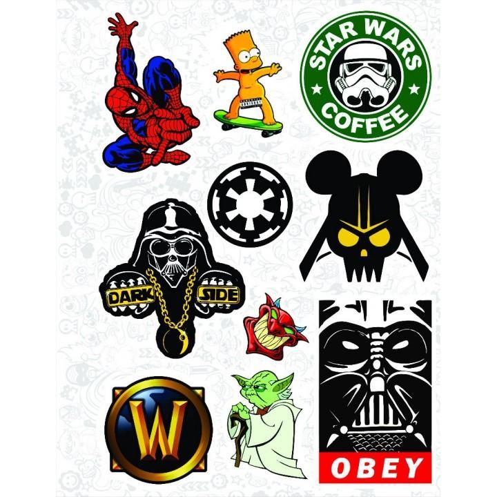 """Набор виниловых наклеек №7 """"Star Wars (Звездные войны)"""""""
