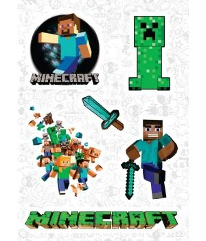 "Набор виниловых наклеек №100 ""Minecraft (Майнкрафт)"""