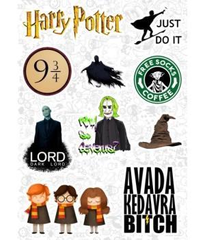 "Набор виниловых наклеек №106 ""Harry Potter (Гарри Поттер)"""