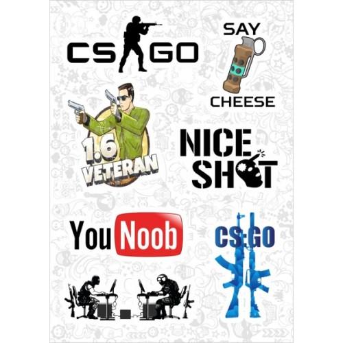 "Набор виниловых наклеек №109 ""Counter-Strike"" (2983)"