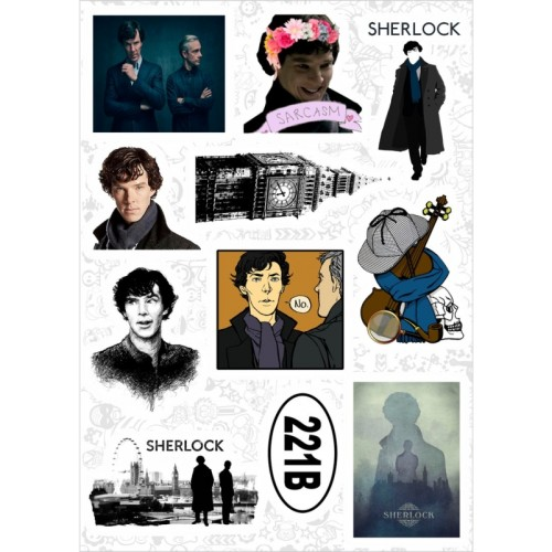 "Набор виниловых наклеек №129 ""Sherlock (Шерлок)"" (2921)"