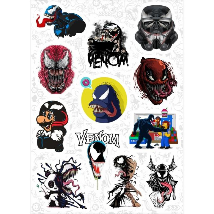 "Набор виниловых наклеек №161 ""Venom (Веном)"" (9779)"
