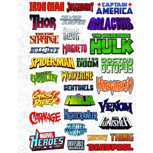 "Набор виниловых наклеек №17 ""Marvel (Марвел)"""