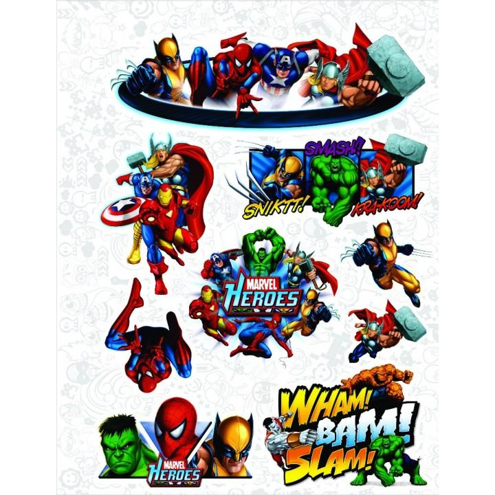 "Набор виниловых наклеек №19 ""Marvel (Марвел)"""