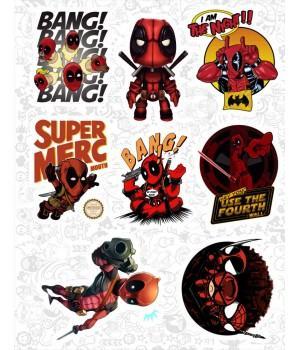 """Набор виниловых наклеек №20 """"Deadpool (Дэдпул)"""""""