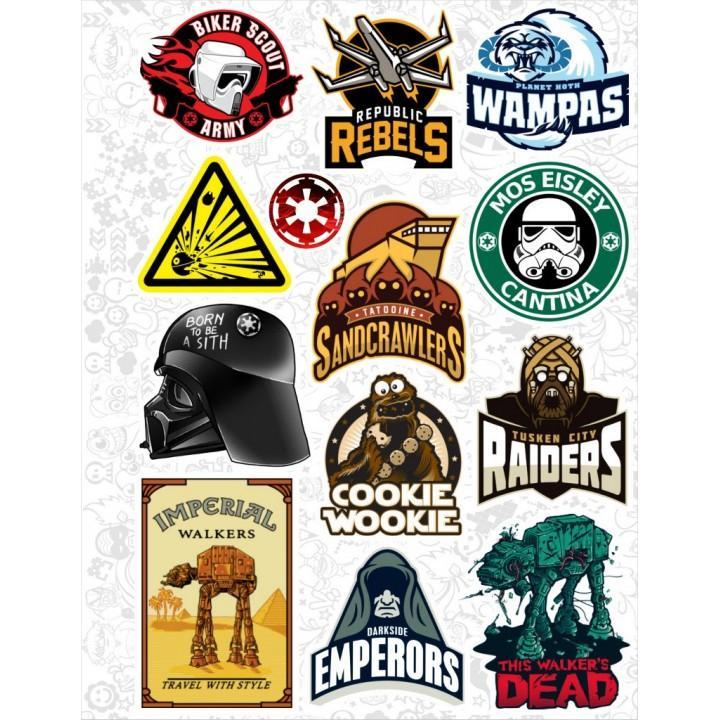 """Набор виниловых наклеек №21 """"Star Wars (Звездные войны)"""""""
