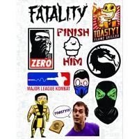 """Набор виниловых наклеек №25 """"Mortal Kombat"""""""