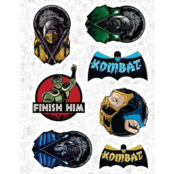 """Набор виниловых наклеек №26 """"Mortal Kombat"""""""