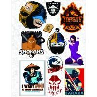 """Набор виниловых наклеек №27 """"Mortal Kombat"""""""