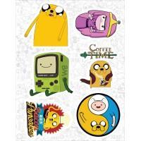 """Набор виниловых наклеек №28 """"Adventure Time (Время приключений)"""""""