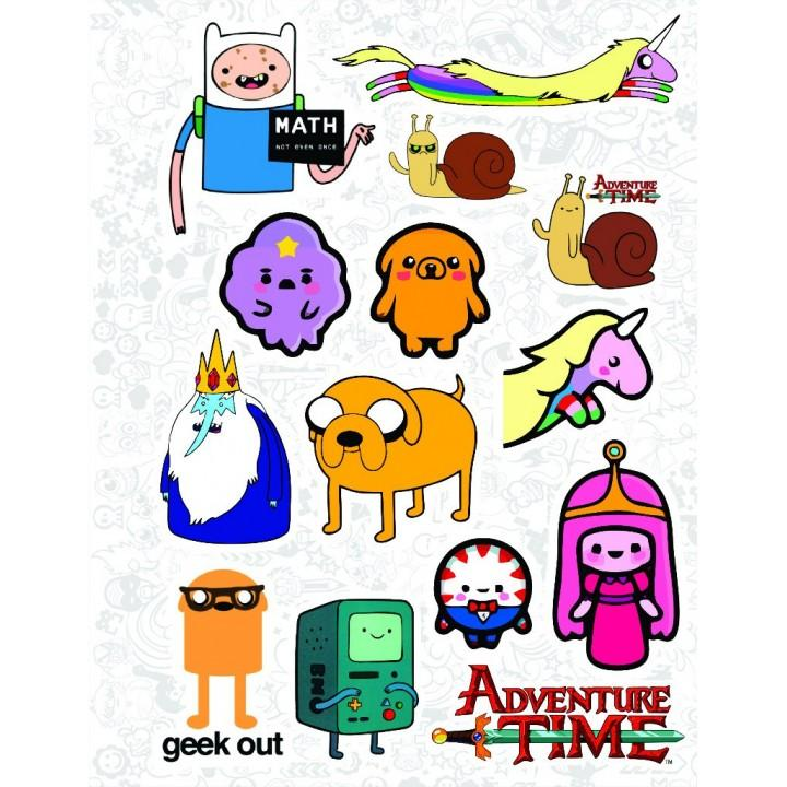 """Набор виниловых наклеек №30 """"Adventure Time (Время приключений)"""""""