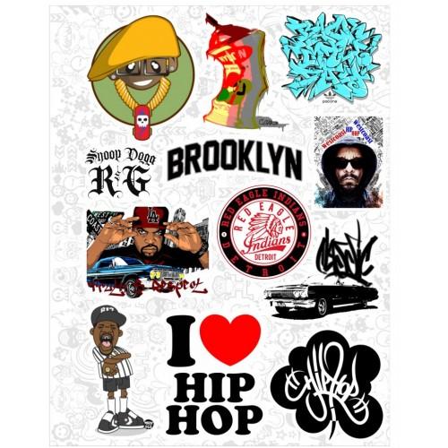 """Набор виниловых наклеек №45 """"Hip-Hop"""""""