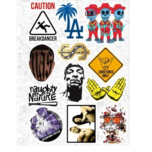 """Набор виниловых наклеек №46 """"Hip-Hop"""""""