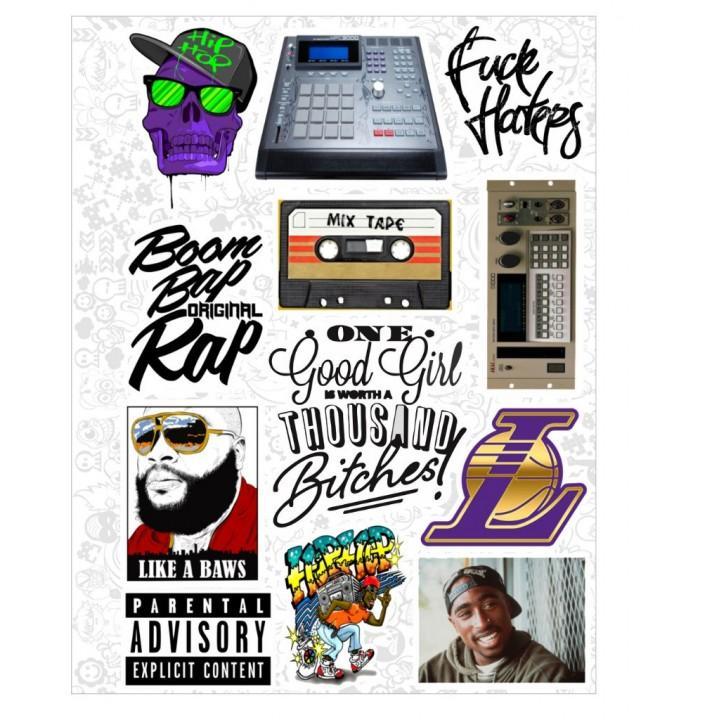 """Набор виниловых наклеек №47 """"Hip-Hop"""""""