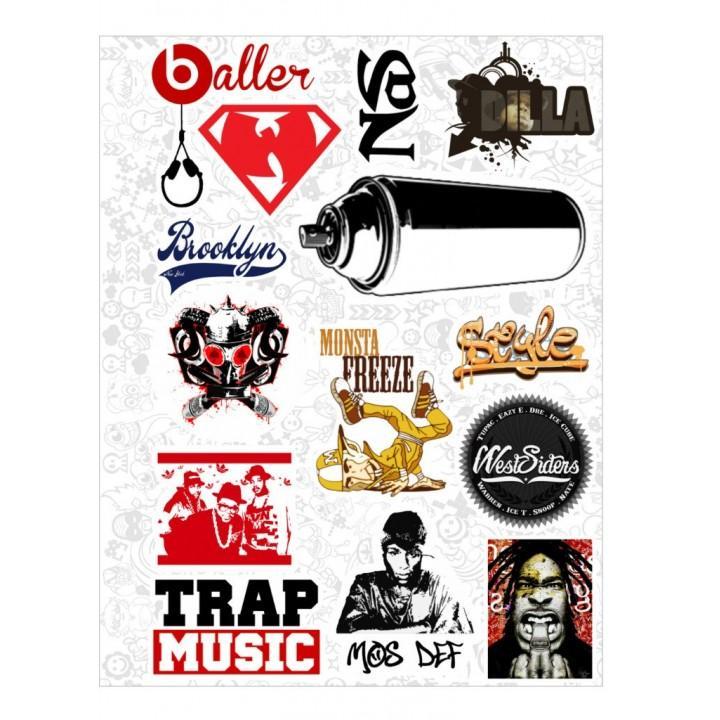 """Набор виниловых наклеек №48 """"Hip-Hop"""""""