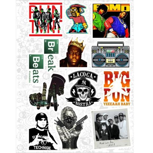 """Набор виниловых наклеек №49 """"Hip-Hop"""""""