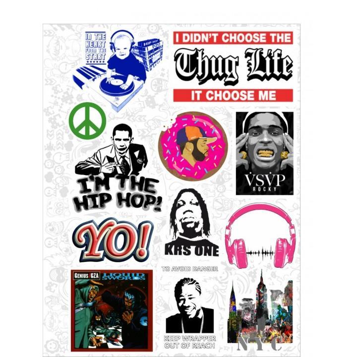 """Набор виниловых наклеек №51 """"Hip-Hop"""""""