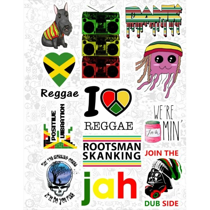 "Набор виниловых наклеек №52 ""Ямайка"""