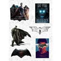 "Набор виниловых наклеек №81 ""Бэтмен против Супермена"""