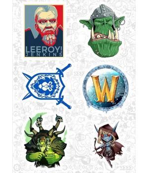 "Набор виниловых наклеек №83 ""World Of Warcraft (Варкрафт)"""