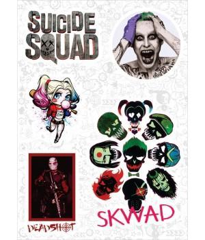 """Набор виниловых наклеек №87 """"Suicide Squad (Отряд самоубийц)"""""""