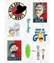 "Набор виниловых наклеек №89 ""Rick and Morty (Рик и Морти)"""
