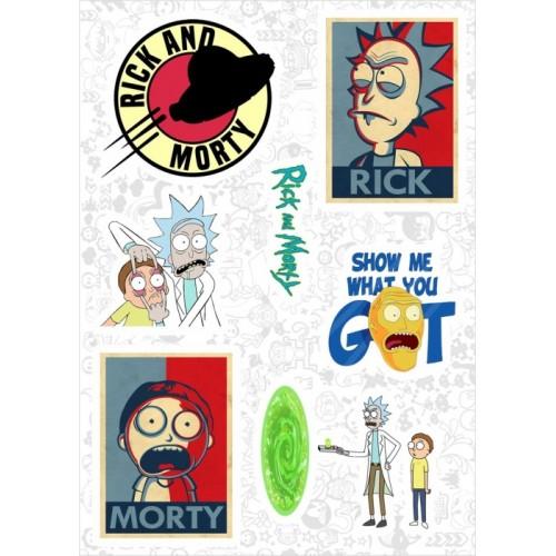 "Набор виниловых наклеек №89 ""Rick and Morty (Рик и Морти)"" (2976)"