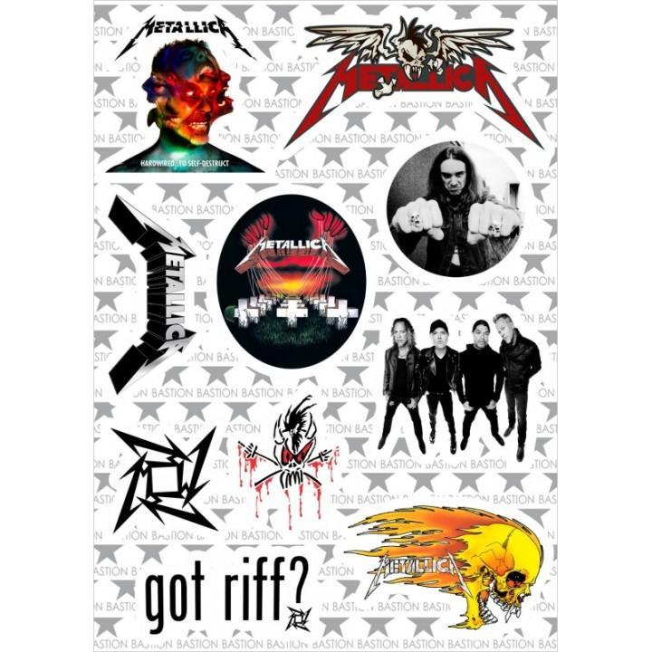"M2 Набор виниловых наклеек ""Metallica"""