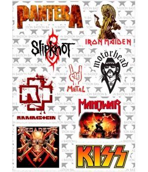 """Набор виниловых наклеек M6 """"Metal"""""""