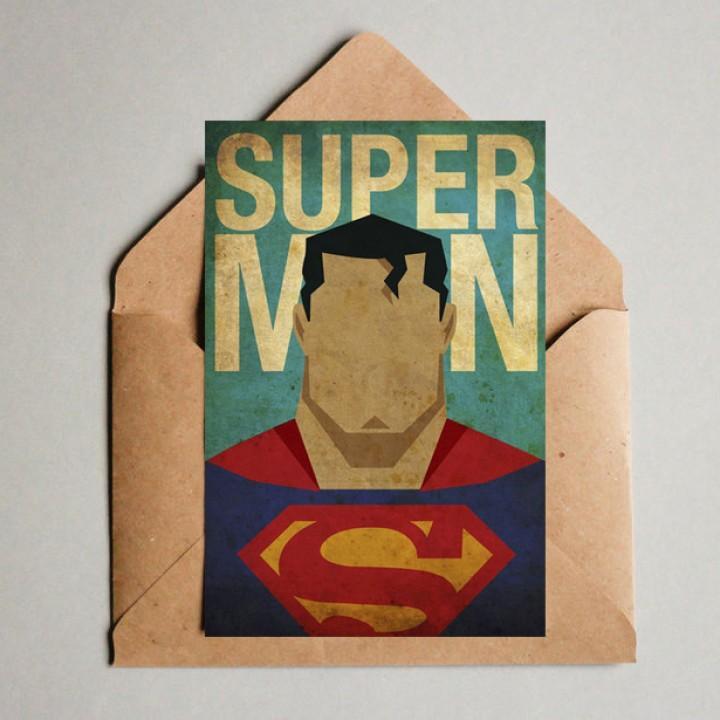 """Открытка """"Супермен)"""" (2016)"""