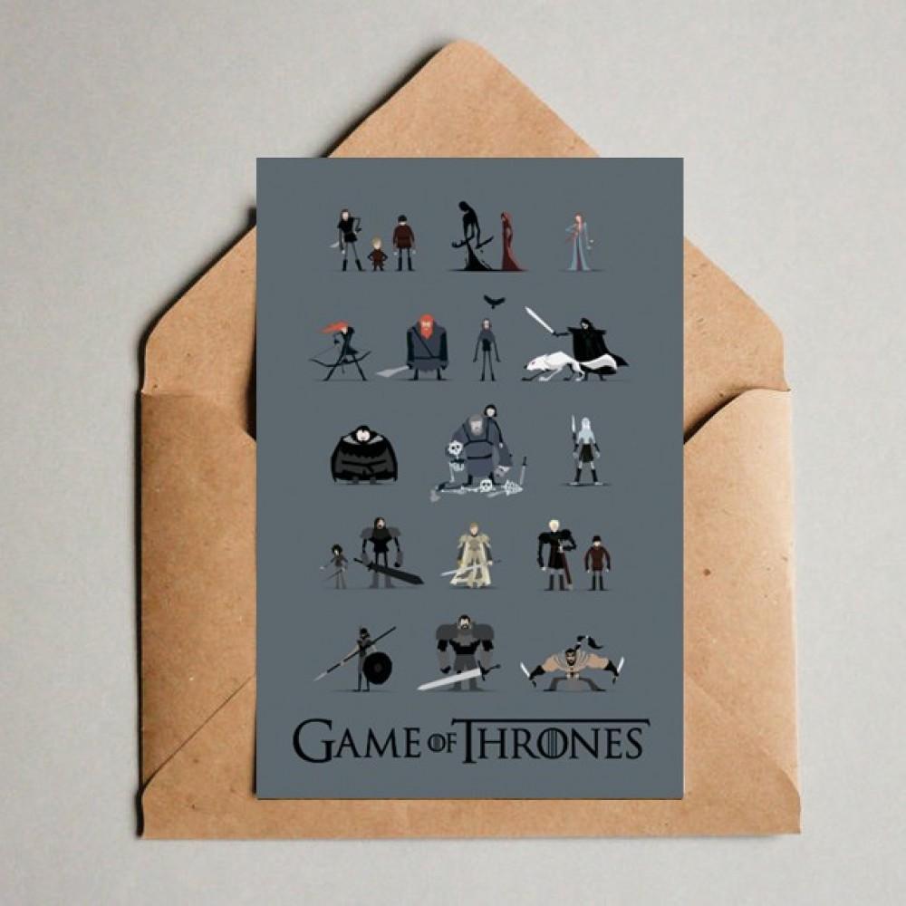 Красивые, почтовые открытки игра престолов