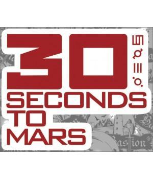 """Виниловая наклейка """"30 Seconds To Mars"""""""