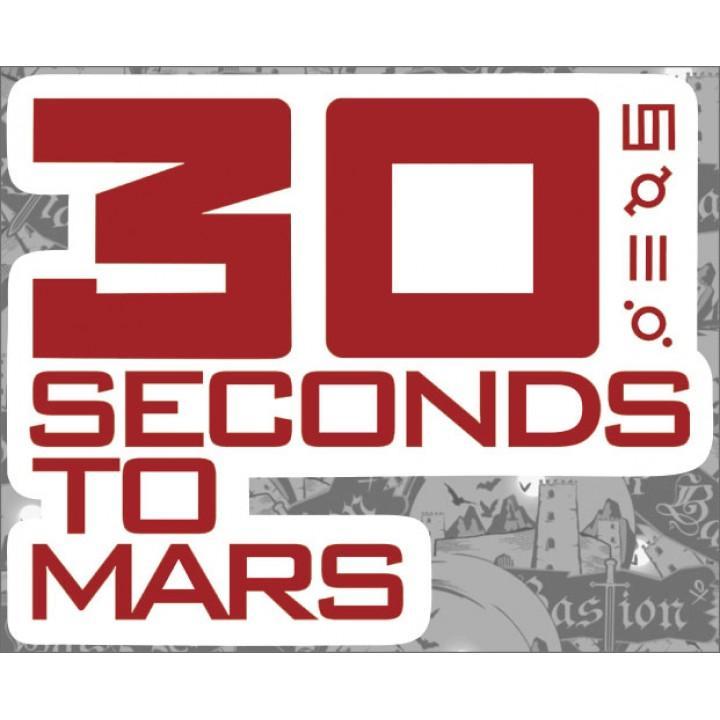 """Виниловая наклейка """"30 Seconds To Mars"""" (1256)"""