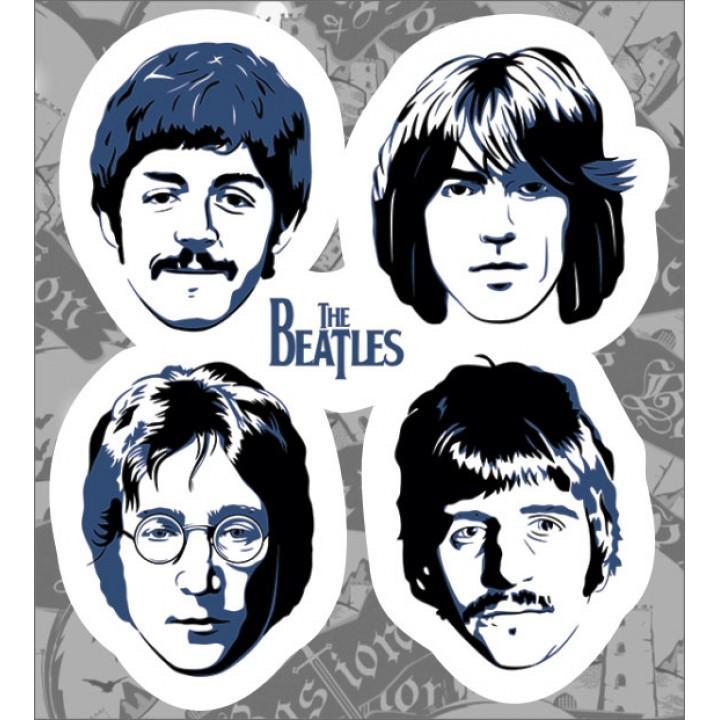 """Виниловая наклейка """"The Beatles"""" (1274)"""