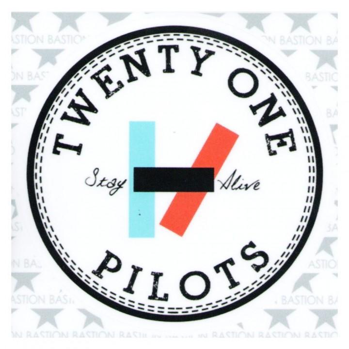 """Виниловая наклейка """"Twenty One Pilots"""" (9099)"""