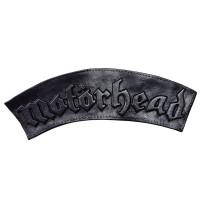 """Нашивка на спину кожаная """"Motorhead"""" черная"""