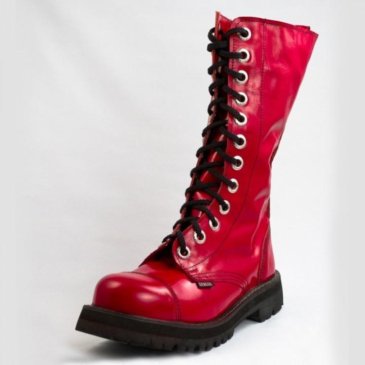Ботинки Ranger красные лакированные 12 блочек (1131) (под заказ)