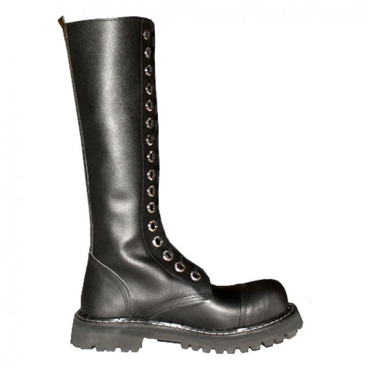 Ботинки Ranger черные 16 блочек (1132) (под заказ)