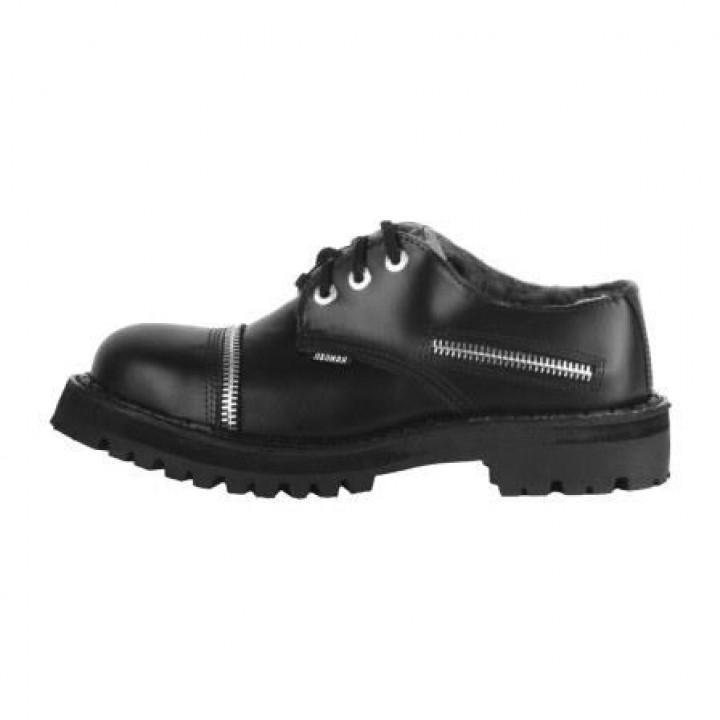 """Полуботинки Ranger черные """"Zipper"""" (1119) (под заказ)"""