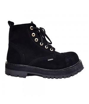 """Ботинки Ranger """"Черная замша"""" 6 блочек (иск. мех)"""