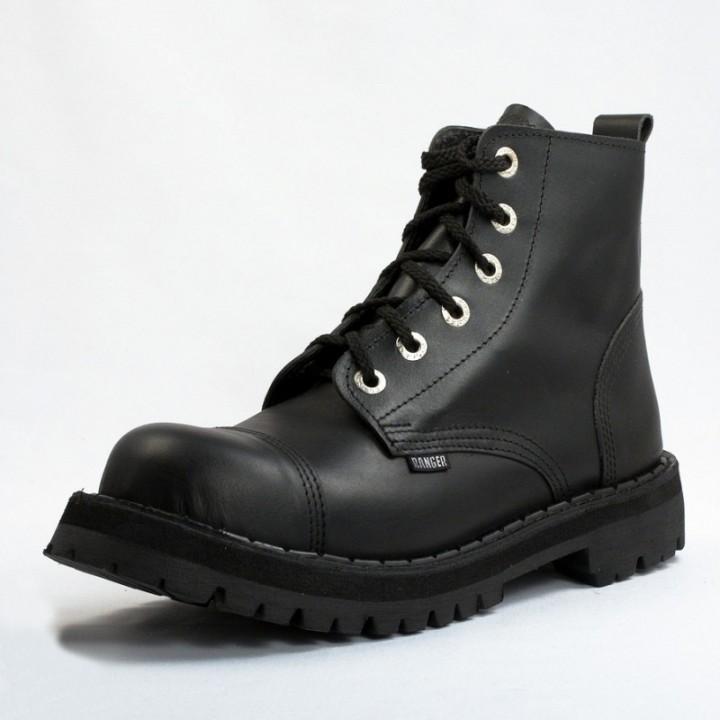 Ботинки Ranger черные 6 блочек (1127) (под заказ)