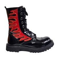 """Ботинки Ranger """"Black Varnish Fire"""" лакированные 9 блочек"""