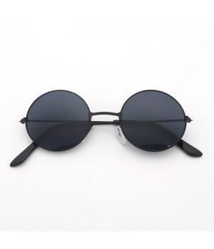 Очки детские солнцезащитные круглые с черными стеклами