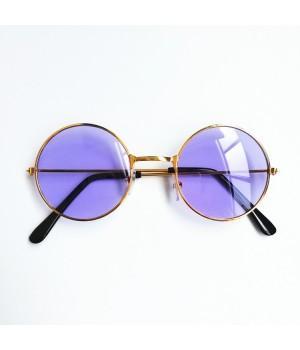 Очки детские солнцезащитные круглые с фиолетовыми стеклами
