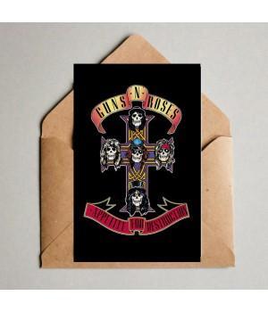"""Открытка """"Guns N' Roses"""""""