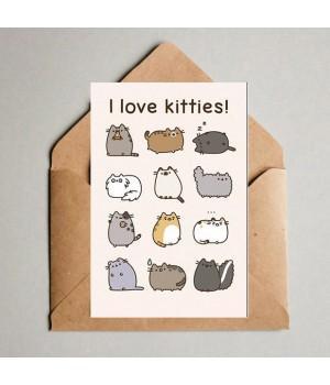 "Открытка ""I love Kitties"""
