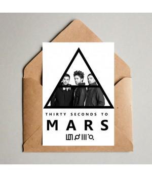 """Открытка """"30 Seconds To Mars"""""""